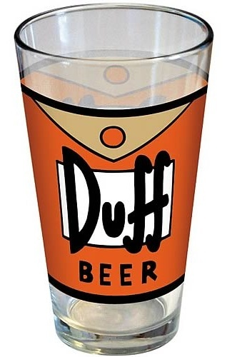 Simpsons: Duff Beer - Pint Glass