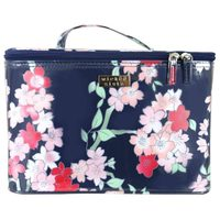 Wicked Sista Large Flat Purse - Lyrical Blooms Navy