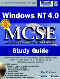 Windows NT 4.0: MCSE Study Guide by Alan R. Carter image