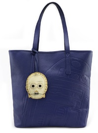 Loungefly: Star Wars R2 & C3PO - Blue Tote Bag