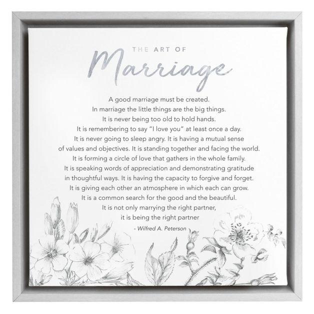 Wedding Framed Canvas - Art of Marriage