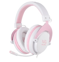 SADES M-Power Gaming Headset (Pink) for Switch, PC, PS4, Xbox One