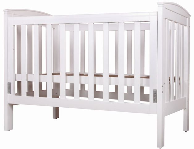 Bebe Care Oxford Cot / Bed (White)