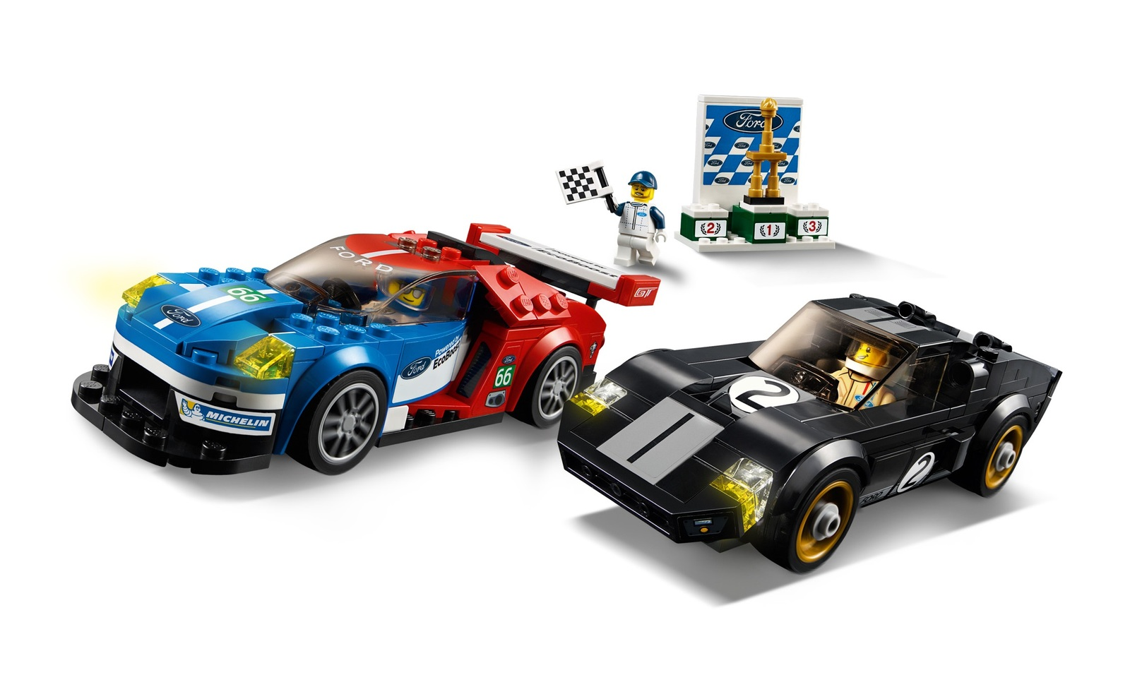 LEGO Speed Champions - 2016 Ford GT & 1966 Ford GT40 (75881) image