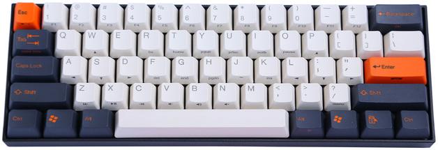 KBParadise V60 MX Blue TKL Mechanical Keyboard Carbon