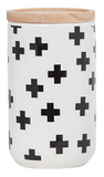 General Eclectic Tall Canister (Black Crosses)