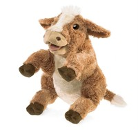 Folkmanis Hand Puppet - Brown Cow image