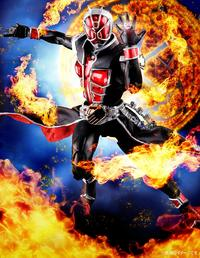 S.H.Figuarts (Shinkocchou Seihou) Kamen Rider Wizard Flame Style - Action Figure