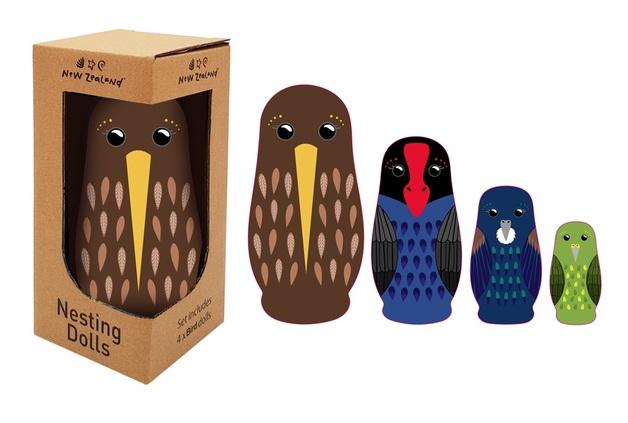 New Zealand: Nesting Doll Set - NZ Birds