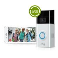 Ring Video Doorbell [2nd Gen] (Satin Nickel) [Genuine Refurbished]