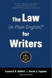 The Law (in Plain English) for Writers (Fifth Edition) by Leonard DuBoff image