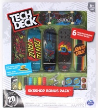 Tech Deck: Skateshop Bonus Pack - Santa Cruz