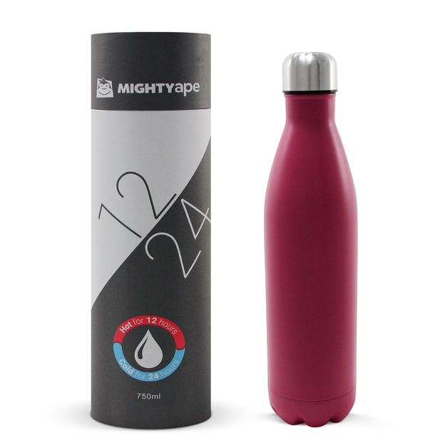 Insulated Stainless Steel Bottle 750ml Pink