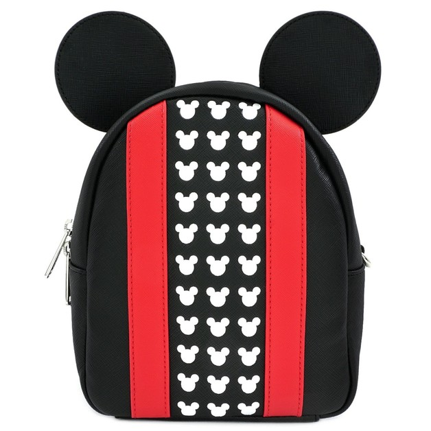 Loungefly: Mickey Mouse - Red Stripe & Ears Backpack
