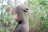 Cheeky Chimp: Knitted Critter Hood Cardigan (Size 6)