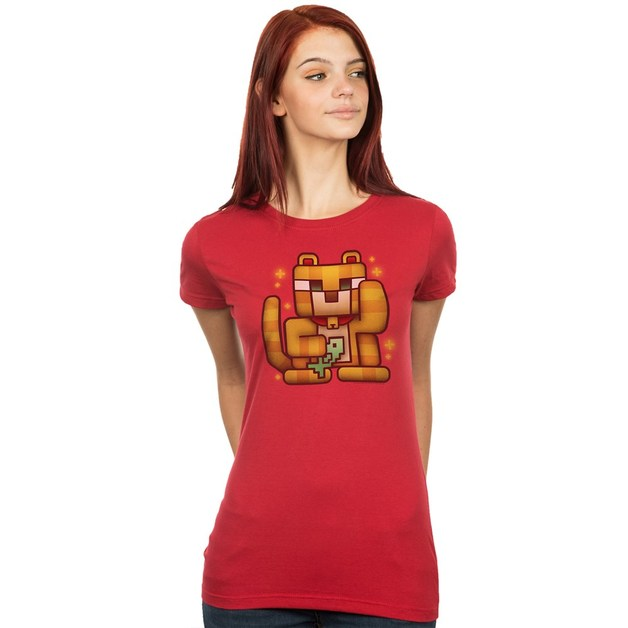 Minecraft Lucky Ocelot Women's Tee (X-Large)