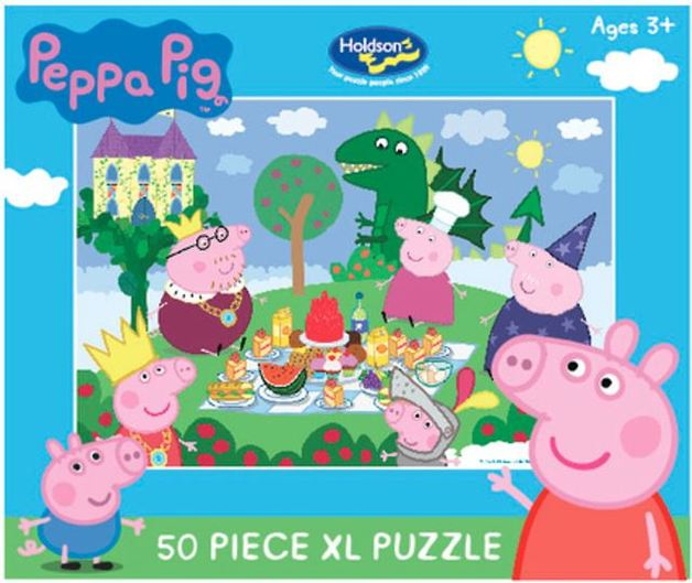 Holdson: Kids Peppa Pig - The Fairy Tale Picnic - 50 XL Piece Puzzle