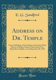 Address on Dr. Temple by E G Sandford image