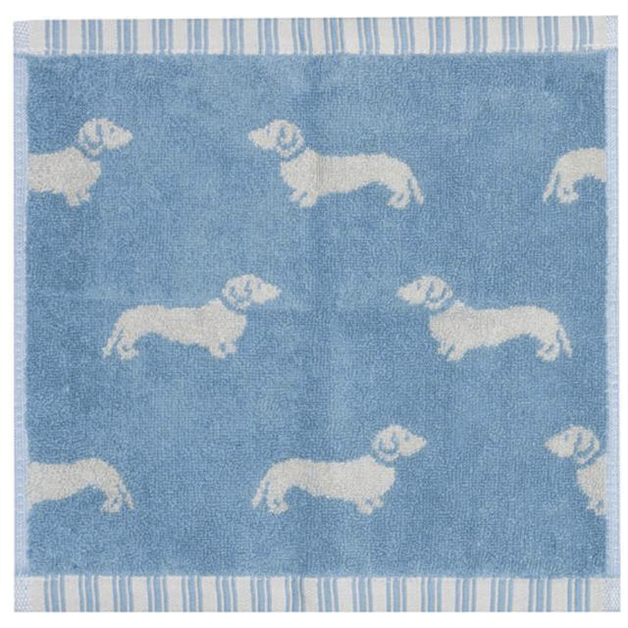 Emily Bond Facecloth - Blue Dachshunds