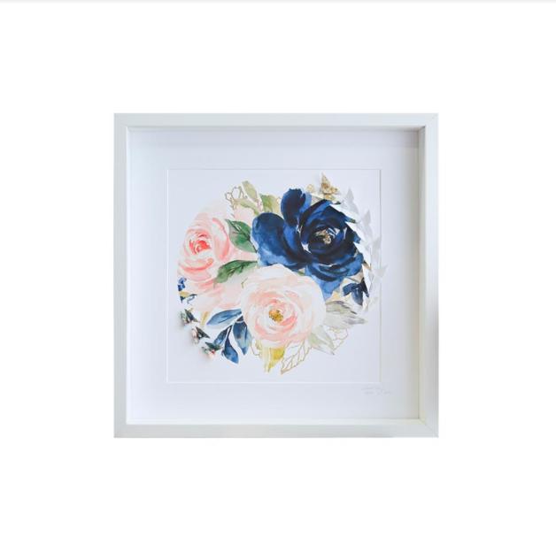 Large White Frame (Floral Circle)
