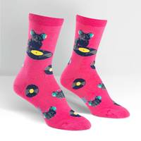 Womens - Cat Scratch Crew Socks
