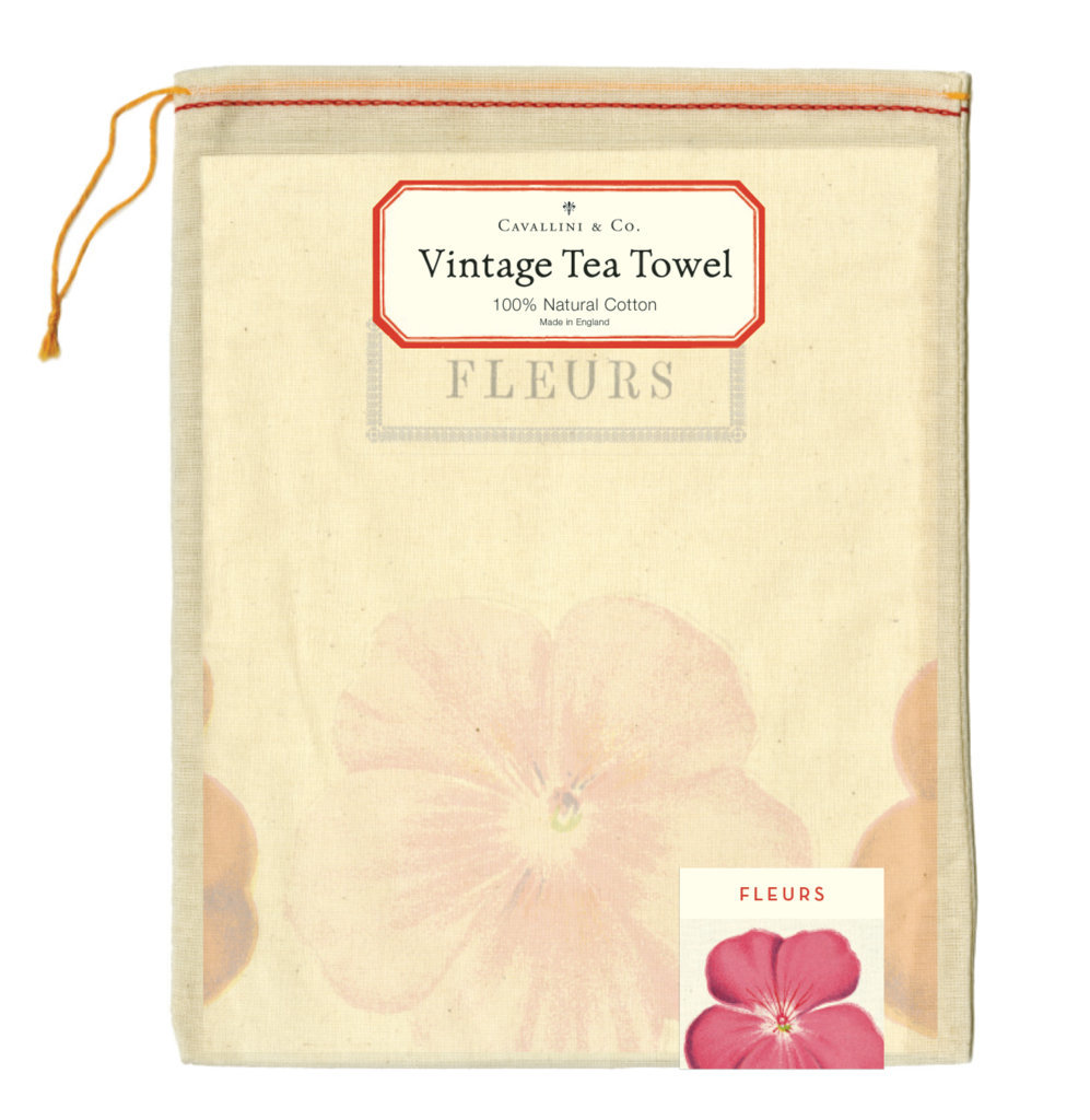 Fleurs Tea Towel image