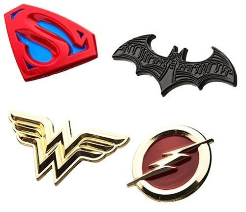 DC Comics: Justice League Logos - Enamel Pin Set