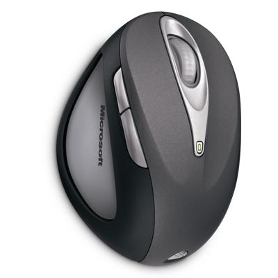 Microsoft Natural Wireless Laser Mouse 6000 Metallic Grey USB image
