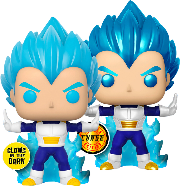 Dragon Ball Super: SSB Vegeta (Glowing) - Pop! Vinyl Figure (with a chance for a Metallic Chase version!)