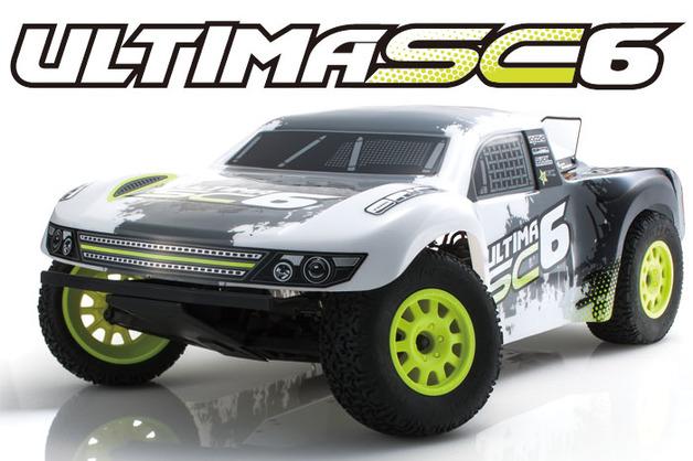 Kyosho EP ULTIMA SC6 RC 1/10 Truck Readyset (Black)