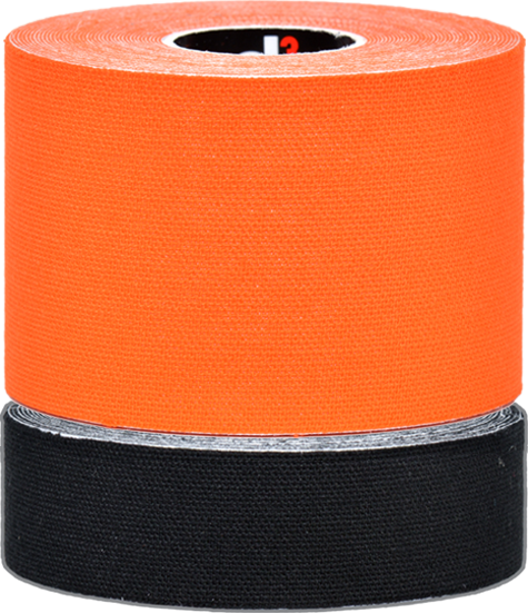 d3 K6.0 Twin Pack Strapping Tape 50mm+25mmx6M (Orange/Black)