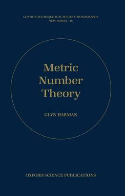 Metric Number Theory by Glyn Harman image