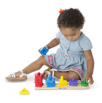 Melissa & Doug: Wooden Stack and Sort Board