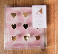 Kaisercraft: K Style Colourpop Collection Gold Hearts Push Pins (9 Pack)