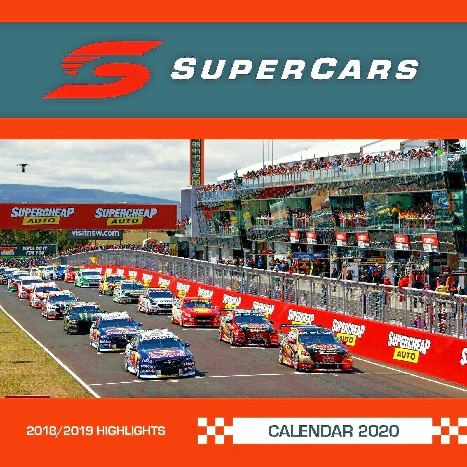Supercars 2020 Square Wall Calendar image