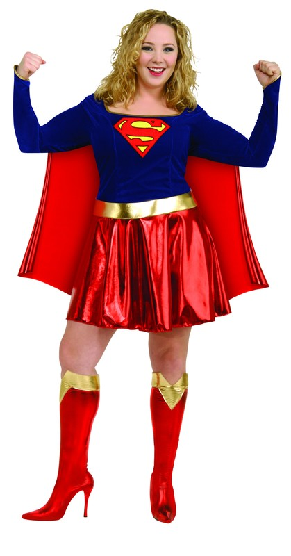 Supergirl Deluxe Costume - (Plus Size)