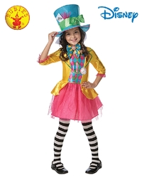 Mad Hatter Girls Deluxe Costume - Size Small