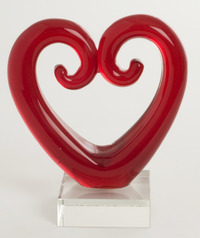 Large Koru Heart - Red