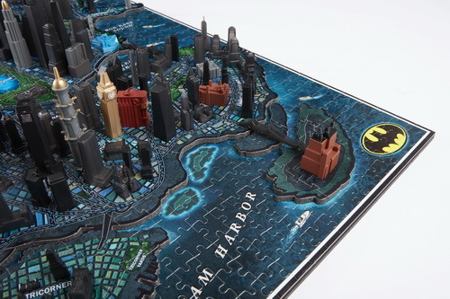 Batman Gotham City 3d Cityscape Puzzle Toy At