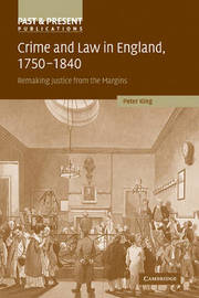 Crime and Law in England, 1750-1840 by Peter King image