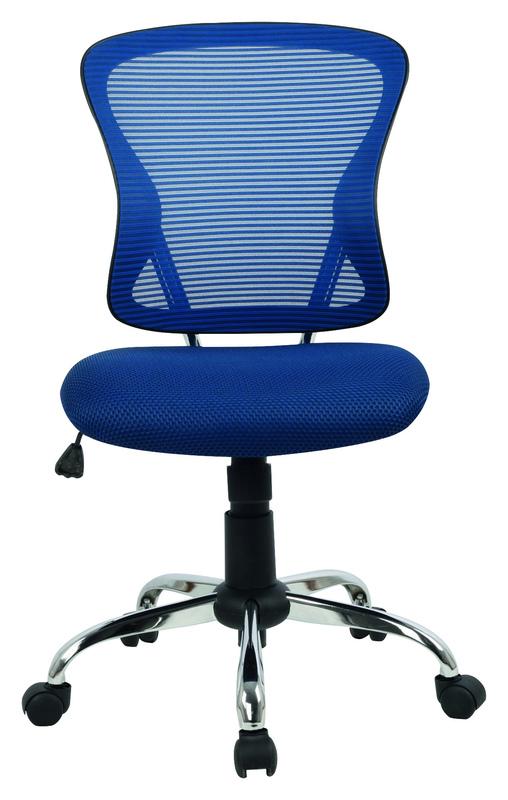 Brenton Mesh Mid Back Office Chair - Blue