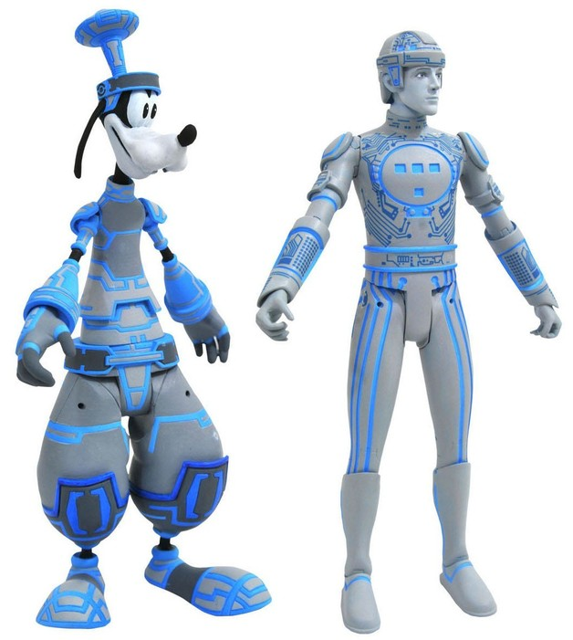 Kingdom Hearts: Select Action 2-Pack - Goofy/Tron