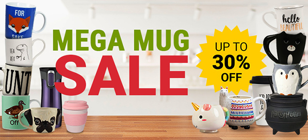 MEGA Mug Sale - up to 30% off!