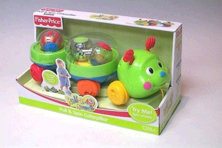 Fisher Price Roll a Rounds Pull and Spin Caterpillar