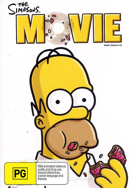 The Simpsons Movie on DVD