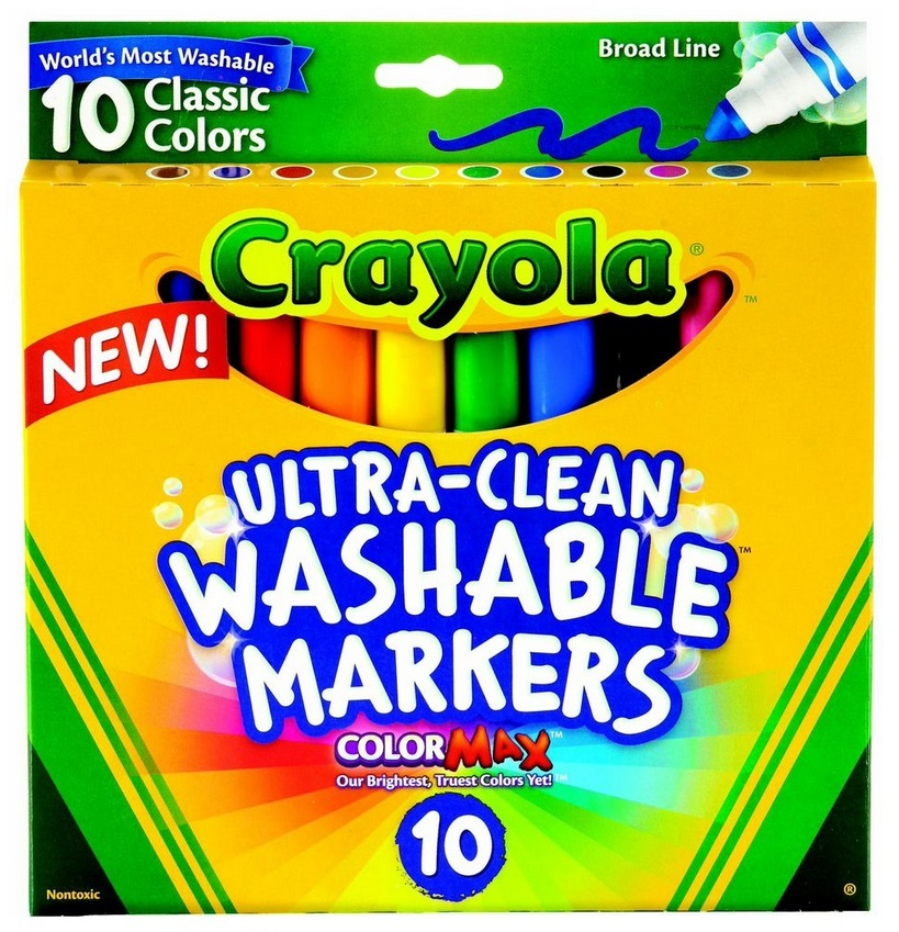 Crayola: 10 Ultra Clean Classic Broadline Markers image