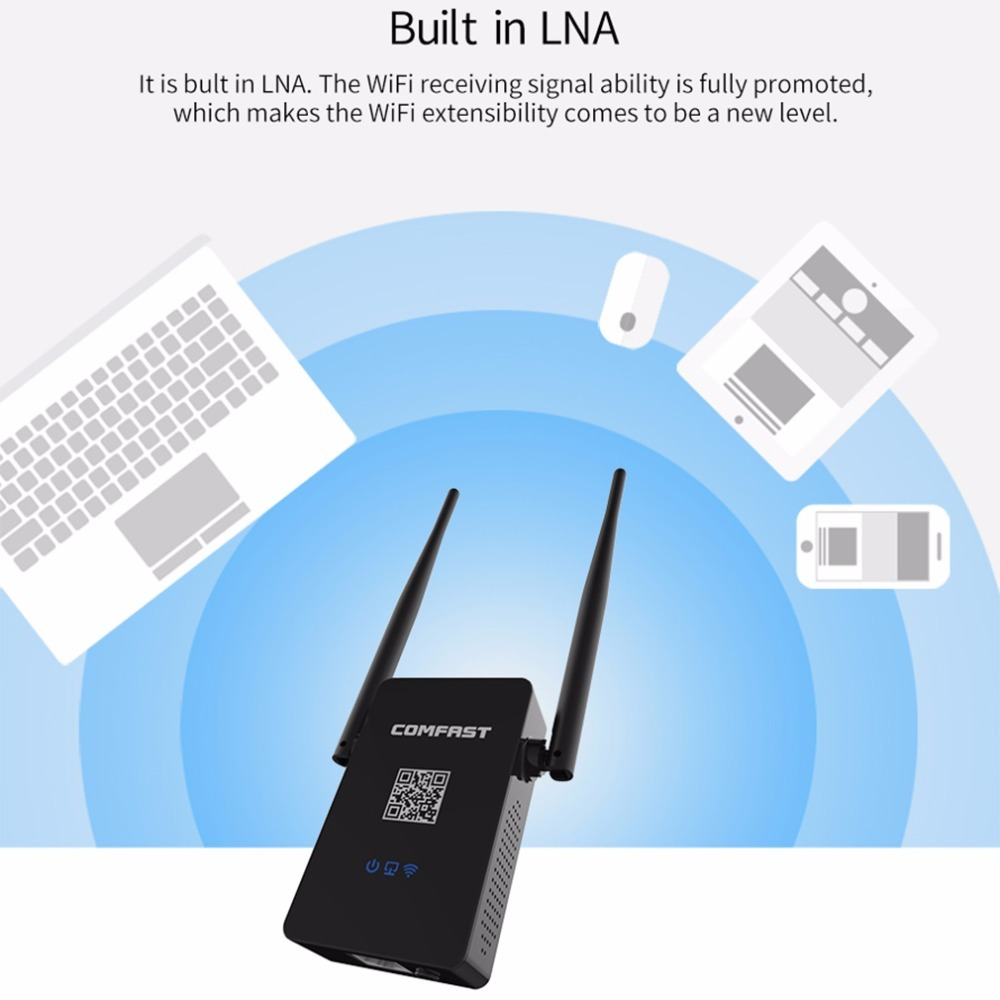 Comfast 750Mbps Dual-Band AC Wi-Fi Extender image