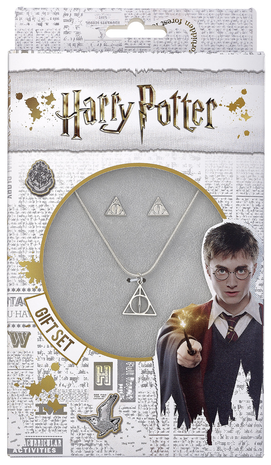 Harry Potter: Necklace & Earring Set - Deathly Hallows image