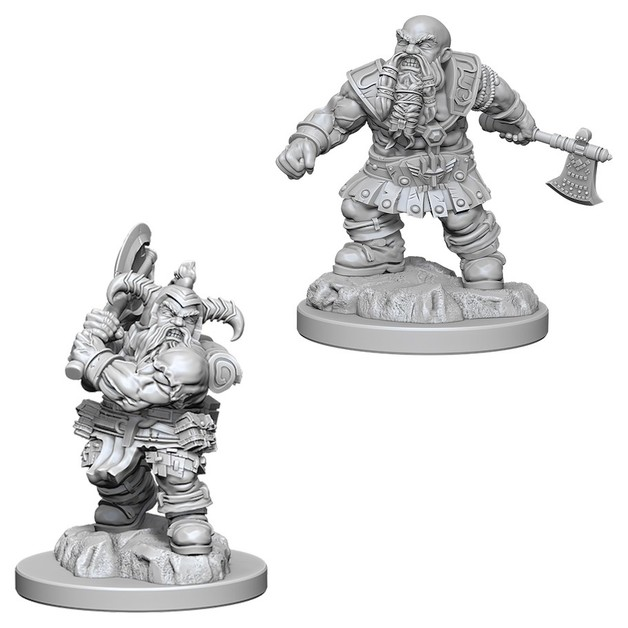 D&D Nolzurs Marvelous: Unpainted Miniatures - Male Dwarf Barbarian