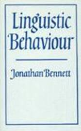 Linguistic Behaviour by Jonathan Francis Bennett image
